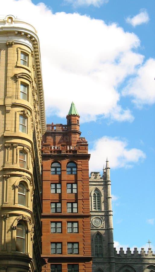 De gebouwen van Montreal royalty-vrije stock afbeelding