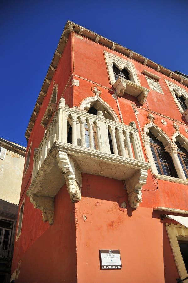 De gebouwen van Piran stock foto