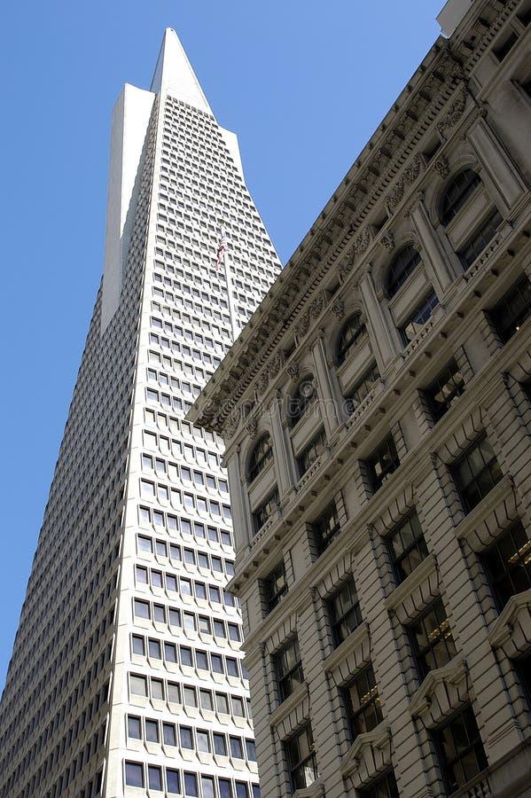 De gebouwen van San Francisco stock foto's