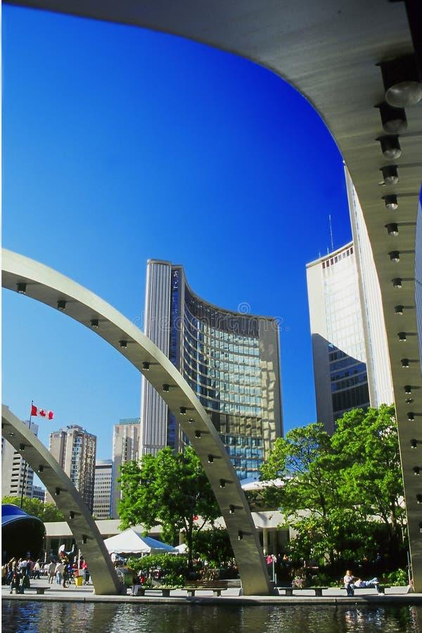 De gebouwen van Toronto royalty-vrije stock foto's