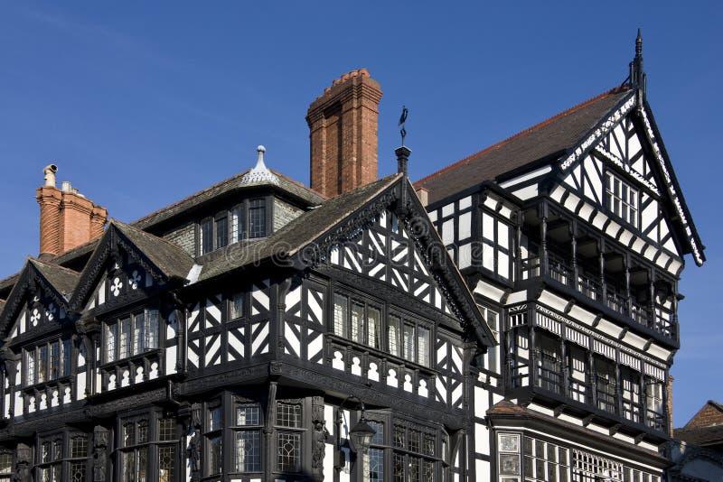 De gebouwen van Tudor - Chester - Engeland royalty-vrije stock afbeelding