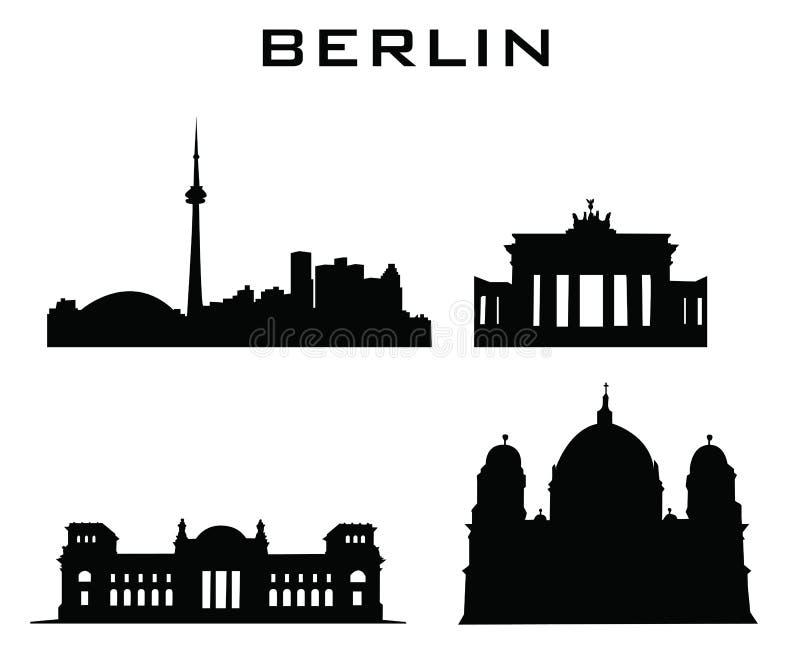 De gebouwenarchitectuur van Berlijn royalty-vrije illustratie