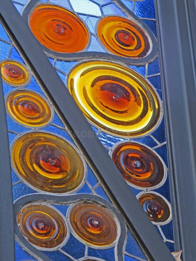 De gebouwenstraten van Barcelona en Antoni Gaudi-stadsschoonheid stock foto
