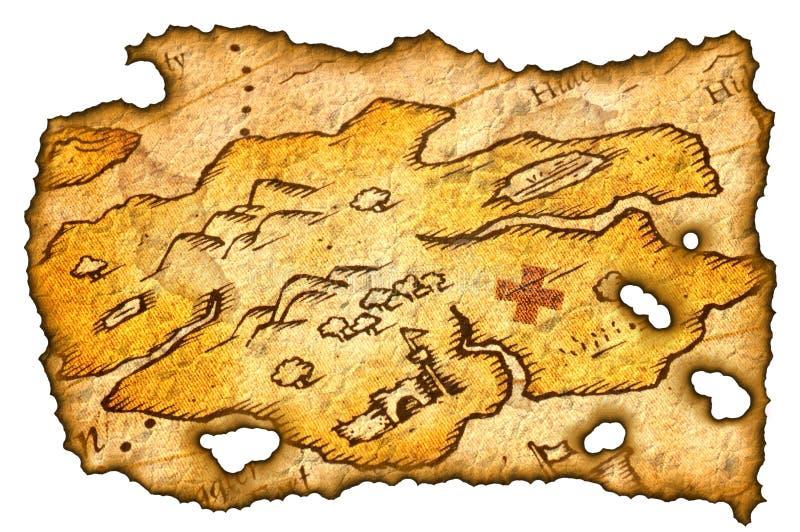 De gebrande Kaart van de Schat royalty-vrije illustratie