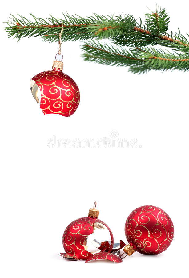 De gebroken decoratie van Kerstmis royalty-vrije stock foto's