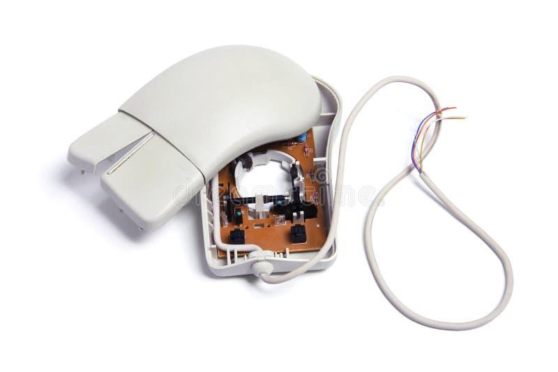 De gebroken Muis van de Computer stock afbeelding