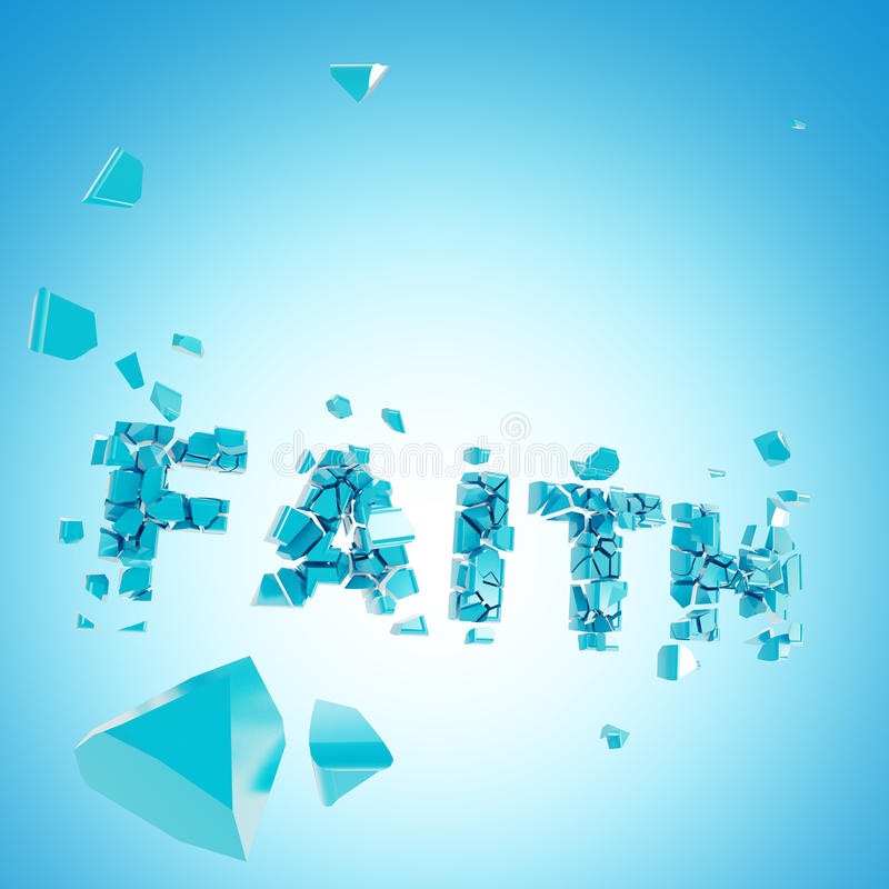 De gebroken samenstelling van geloofs abstracte backround vector illustratie