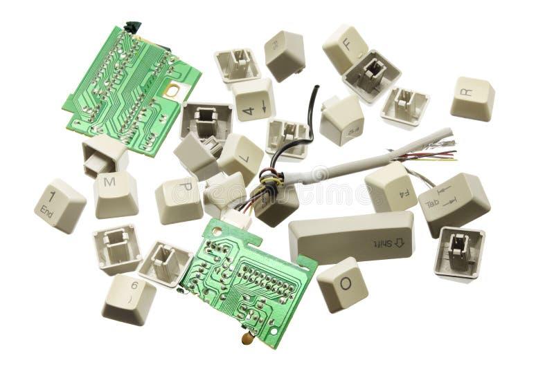 De gebroken Sleutels van de Computer stock illustratie