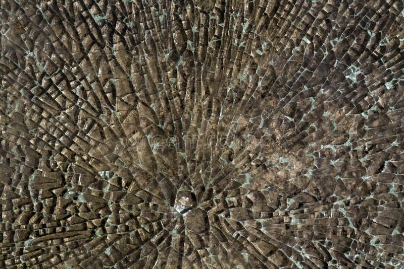 De gebroken Textuur van het Glas royalty-vrije stock afbeelding