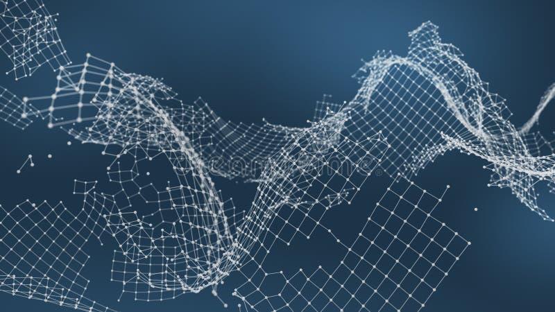 De gebroken visualisatie van de netwerkverbinding ` royalty-vrije stock foto