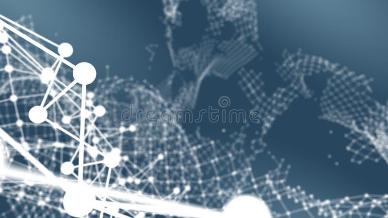 De gebroken visualisatie van de netwerkverbinding ` royalty-vrije stock afbeelding