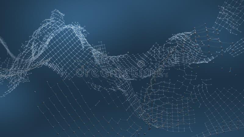 De gebroken visualisatie van de netwerkverbinding ` stock illustratie