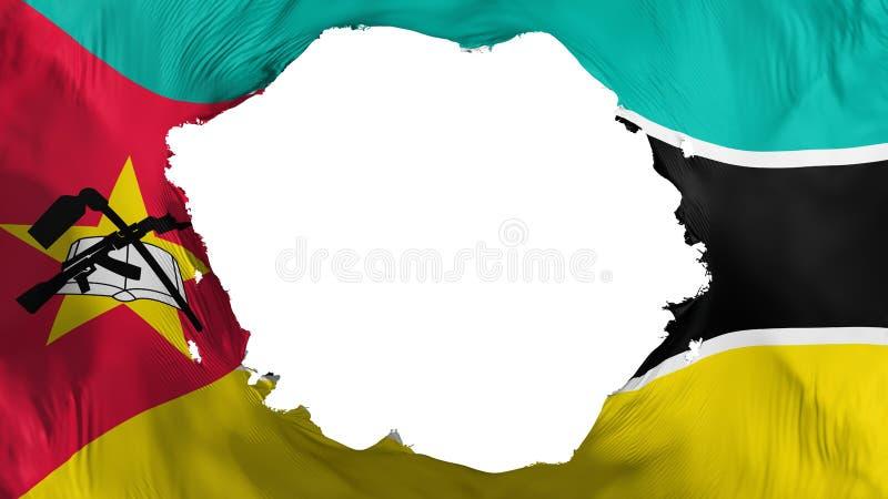 De gebroken vlag van Mozambique vector illustratie