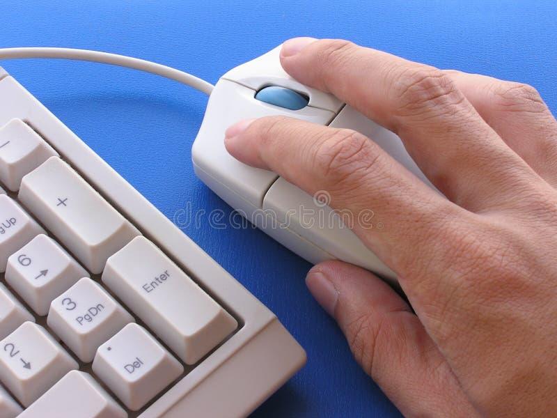 De gebruiker van de muis stock afbeelding