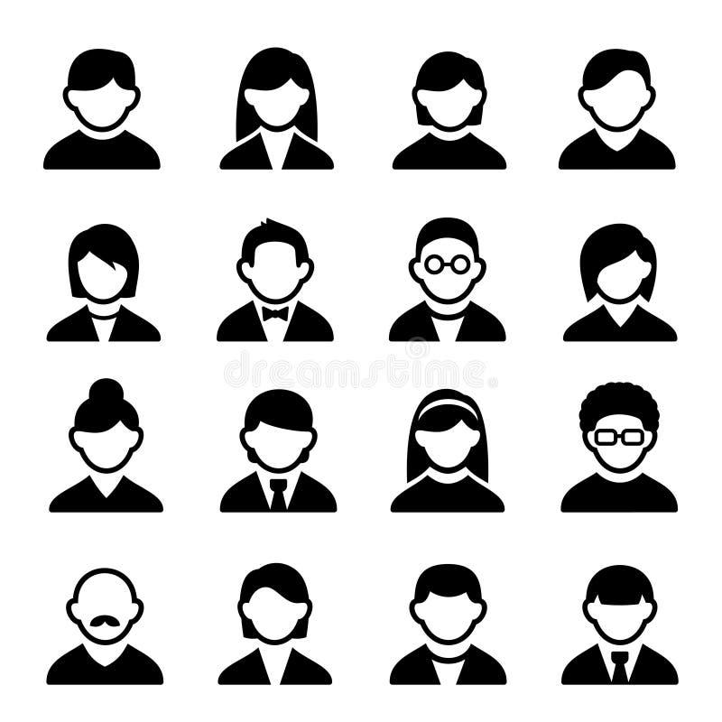 De gebruikerspictogrammen plaatsen 1 vector illustratie