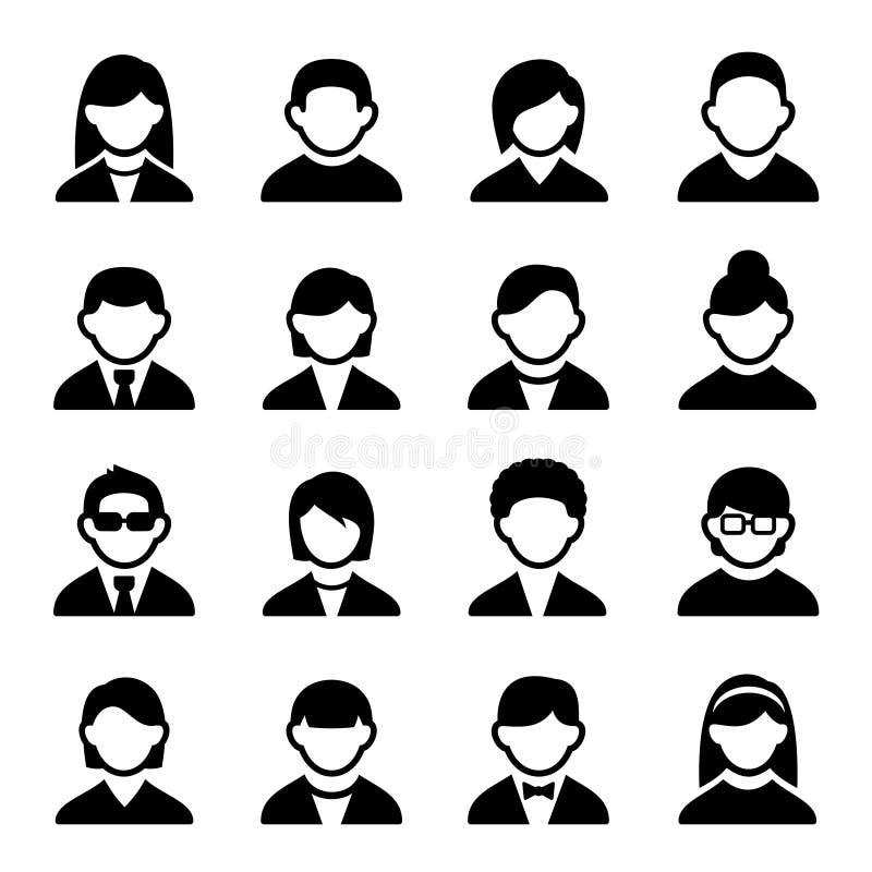 De gebruikerspictogrammen plaatsen 2 stock illustratie