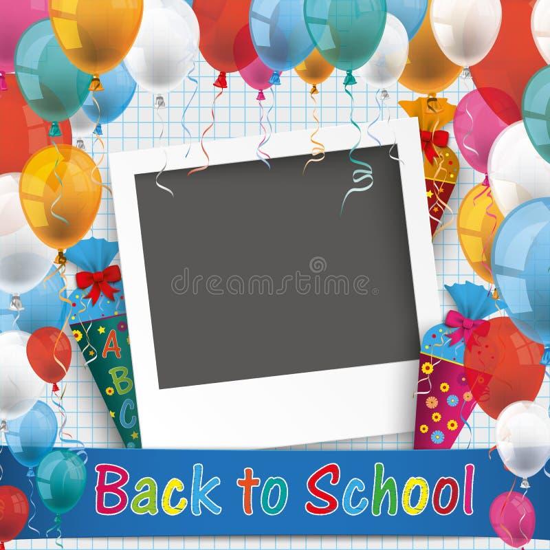 De gecontroleerde Document Foto van de Ballonsschool vector illustratie