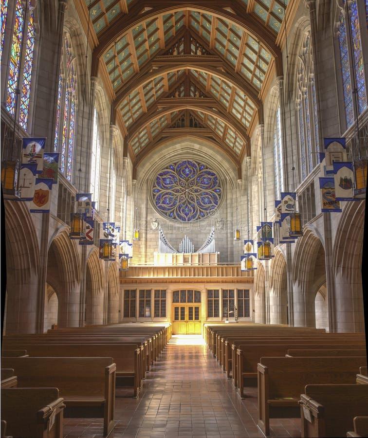 De gedetailleerde architectuur van St Johns Kerk royalty-vrije stock afbeeldingen