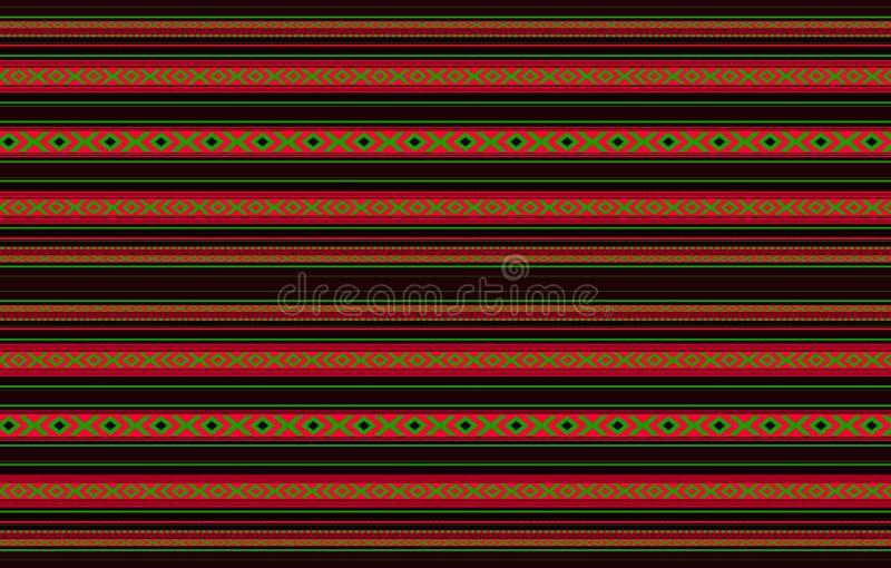 De gedetailleerde Horizontale Traditionele Zwarte Sadu Deken van Handcrafted royalty-vrije illustratie