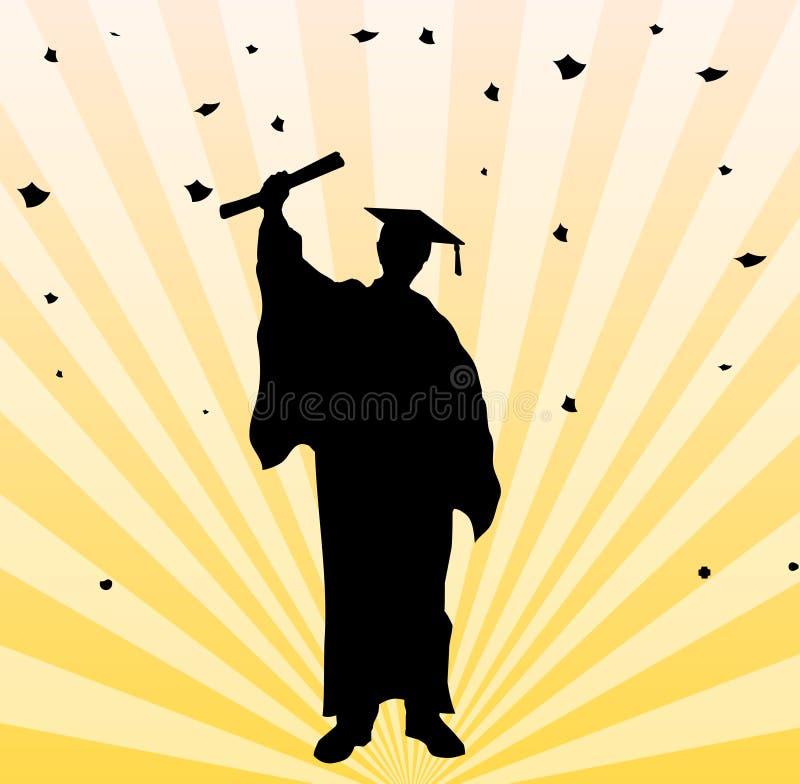 De gediplomeerde achtergrond van de studentenpartij stock illustratie