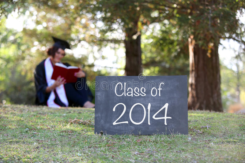 de gediplomeerde van 2014 stock fotografie