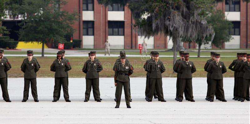 De Gediplomeerden van de Marine van Verenigde Staten in stap royalty-vrije stock fotografie