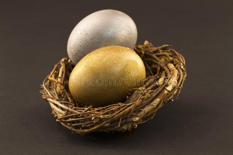 De gediversifiërde Eieren van het Nest royalty-vrije stock afbeelding
