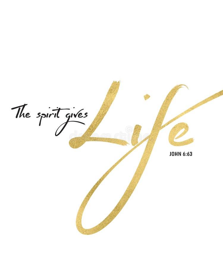 De Geest geeft het Heilige Schriftart. van de het Levensbijbel stock illustratie