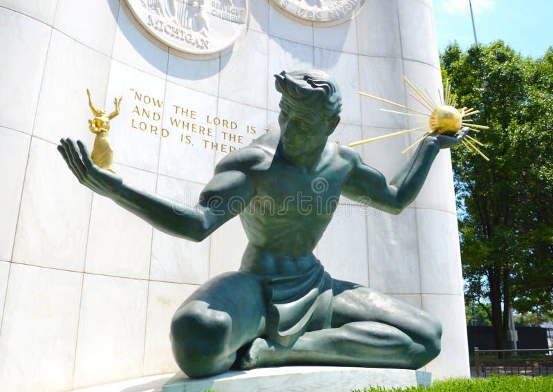 De Geest van Detroit in Detroit, MI royalty-vrije stock fotografie