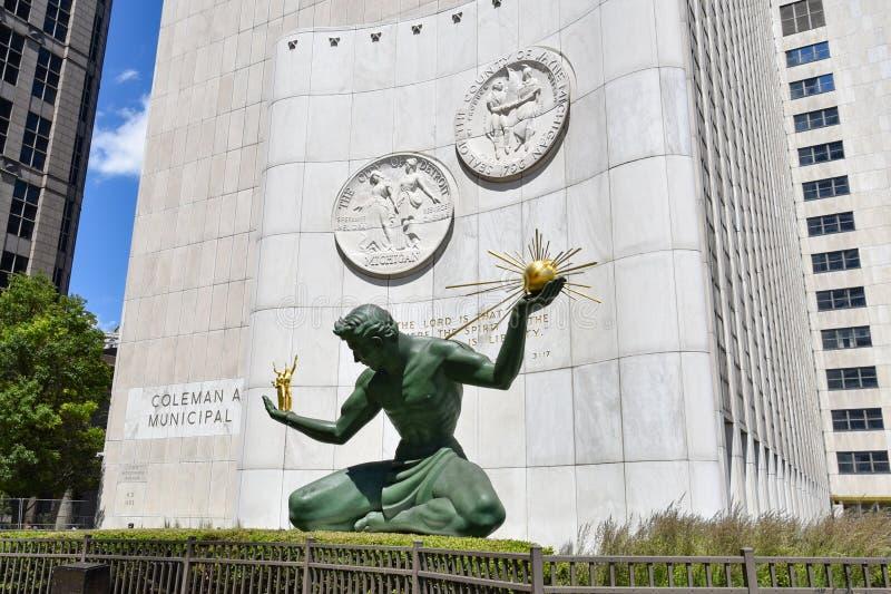 De Geest van Detroit van Detroit stock foto's