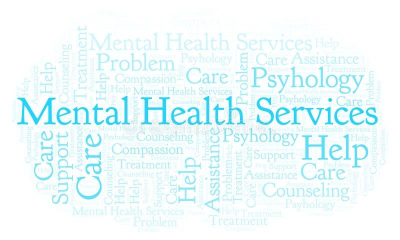 De geestelijke wolk van het Gezondheidsdienstenwoord royalty-vrije illustratie