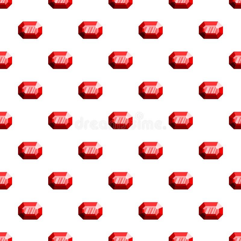 De gefacetteerde naadloze vector van het diamantpatroon stock illustratie