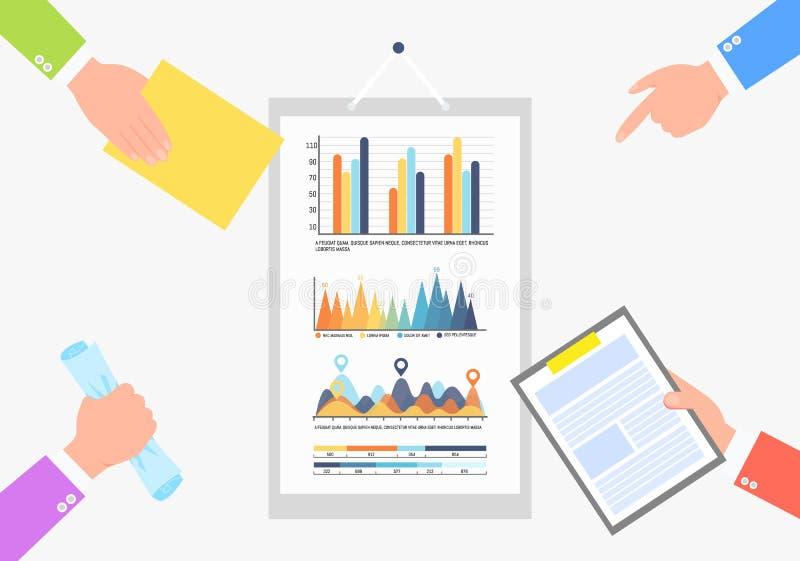 De Gegevens Infochart van de Bedrijfsstatistiekeninformatie royalty-vrije illustratie