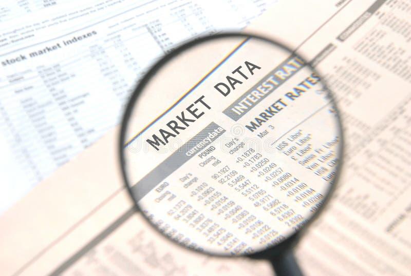 De Gegevens van de markt royalty-vrije stock foto's