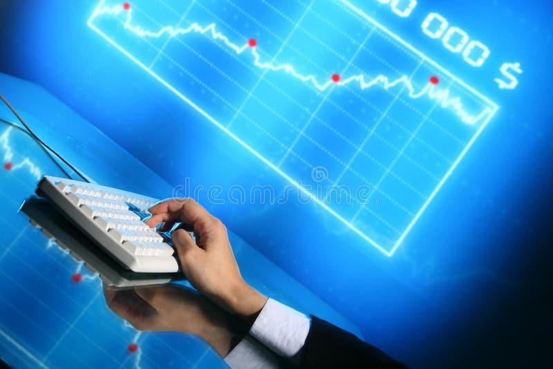 De gegevens van financiën royalty-vrije stock afbeeldingen