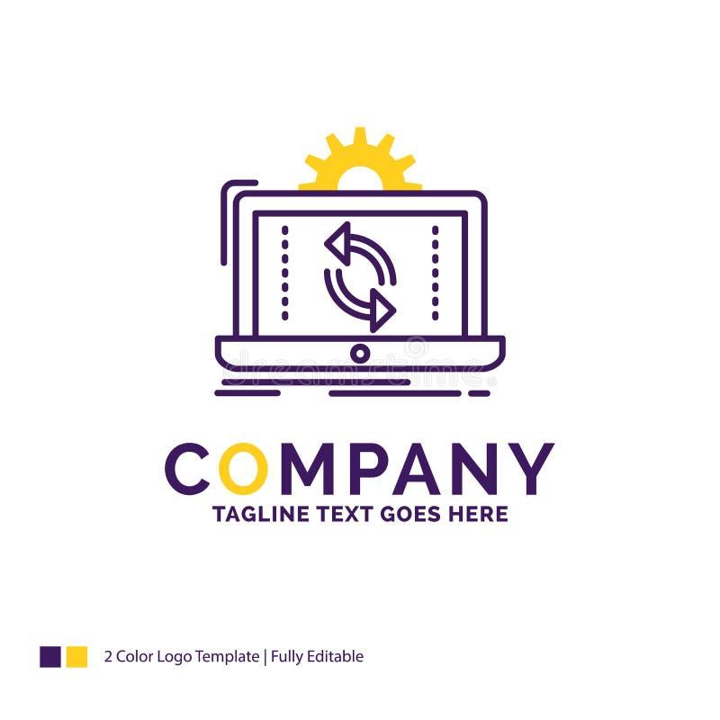 De gegevens van Firmanaamlogo design for, verwerking, Analyse, reporti stock illustratie
