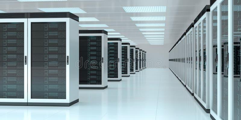 De gegevens van de serverruimte centreren het binnenlandse 3D teruggeven stock illustratie