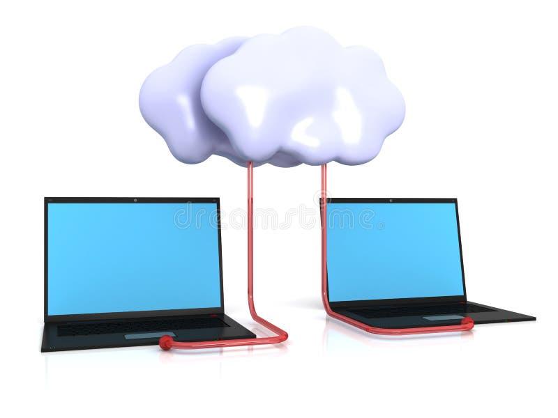 De gegevens verwerkende diensten van de wolk royalty-vrije illustratie
