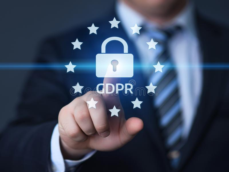 De Gegevensbeschermingverordening van GDPR Algemeen de Commerciële Technologieconcept van Internet stock foto's