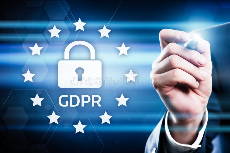 De Gegevensbeschermingverordening van GDPR Algemeen de Commerciële Technologieconcept van Internet royalty-vrije stock afbeeldingen