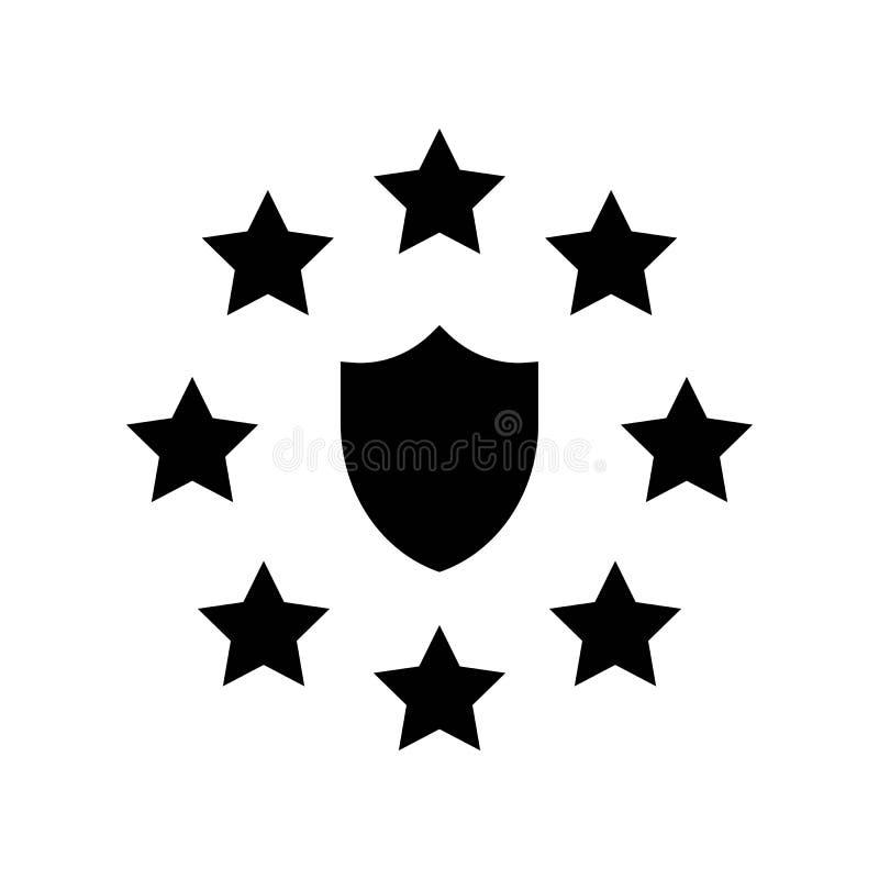 De Gegevensbeschermingverordening van GDPR Algemeen pictogram, stevige stijl vector illustratie