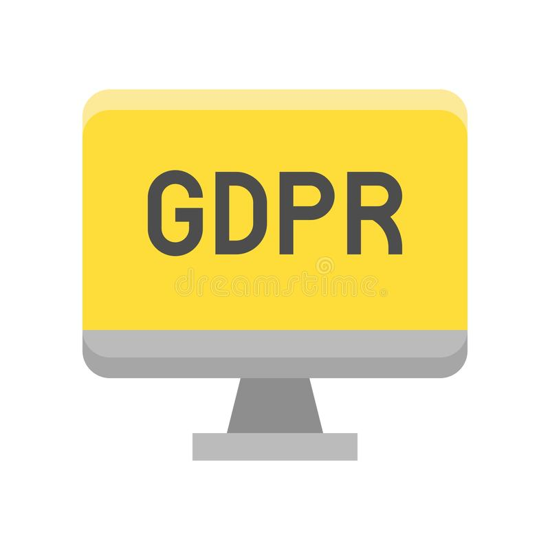 De Gegevensbeschermingverordening van GDPR Algemeen pictogram, vlakke stijl vector illustratie