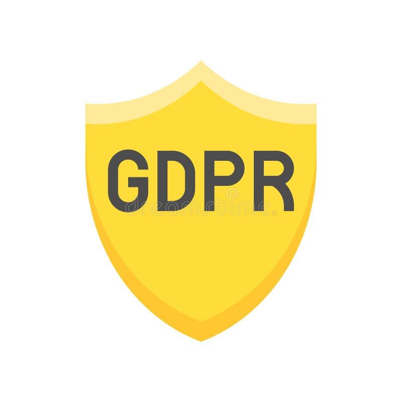 De Gegevensbeschermingverordening van GDPR Algemeen pictogram, vlakke stijl royalty-vrije illustratie
