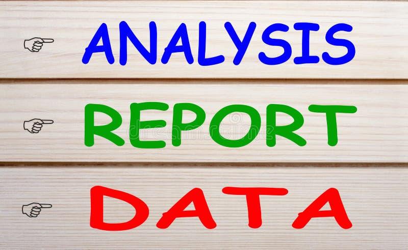 De Gegevensconcept van het analyserapport royalty-vrije stock foto