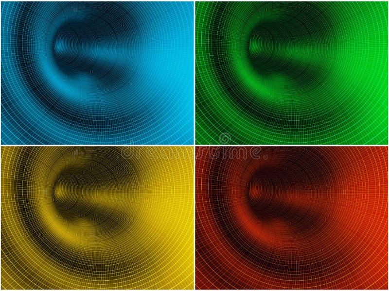 De gegevenstunnels van de kleur vector illustratie