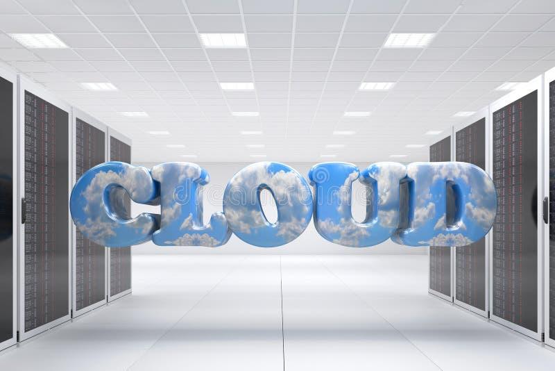 De gegevensverwerking van de wolk vector illustratie