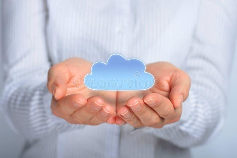 De gegevensverwerking van de wolk. royalty-vrije stock foto