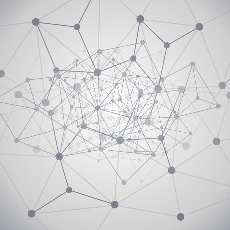 De Gegevensverwerking van de wolk en het Concept van Netwerken stock illustratie