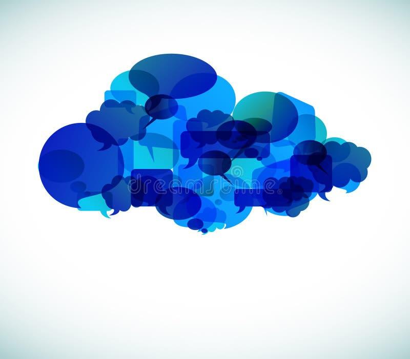 De gegevensverwerking van de wolk - vectorillustratie stock illustratie