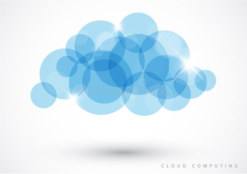 De gegevensverwerking van de wolk - vectorillustratie royalty-vrije illustratie